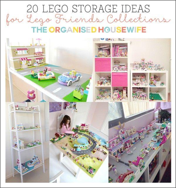 20 lego storage ideas for girls kinderzimmer for Kinderzimmer organizer
