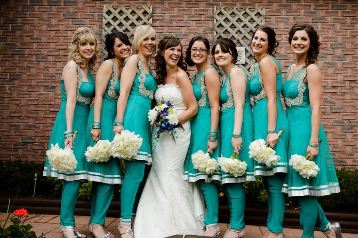 My girls in their Indian suits - these make great bridesmaids dresses!