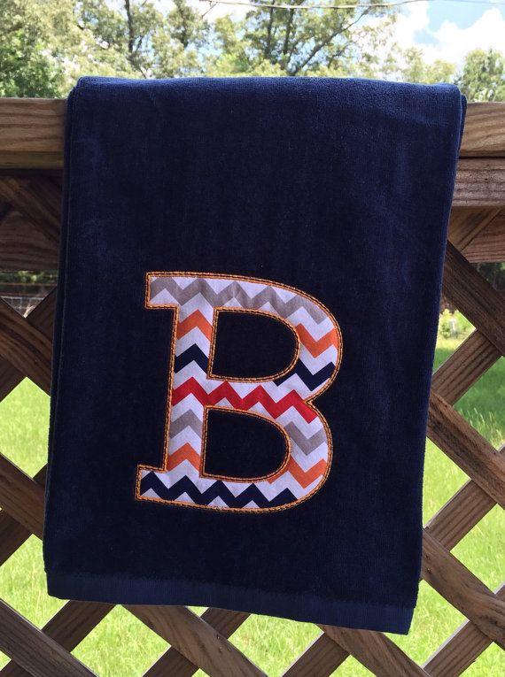 Beach Towel Boy Girl monogrammed woman girl mom baseball