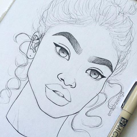 drawings drawing dope instagram emzdrawings draw sketches simple summer girly google realistic easy cartoon emilia sketch pencil emo likes 5k
