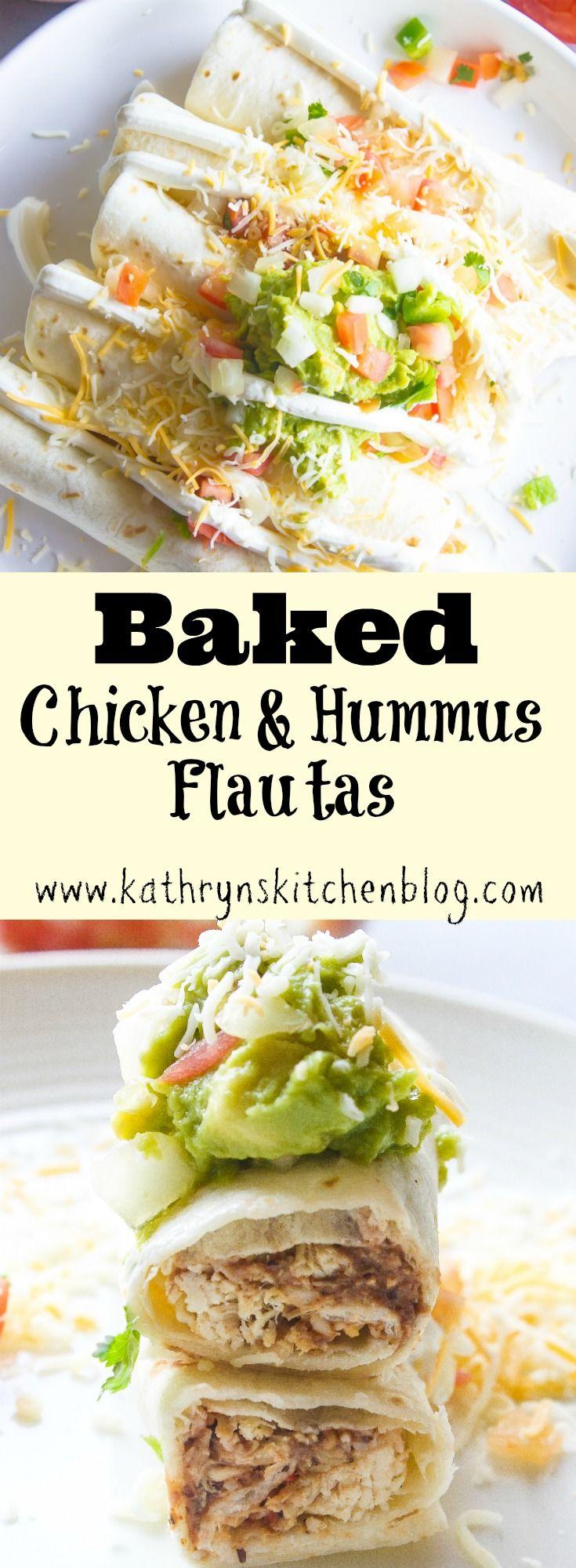 Baked Chicken & Hummus Flautas + GIVEAWAY// Kathryn's Kitchen Blog