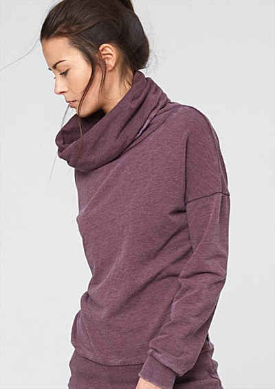 s.Oliver Denim Rollkragen-Sweater im Vintage-Look
