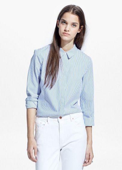 Chemise à rayures - Blouses et chemises pour Femme   OUTLET