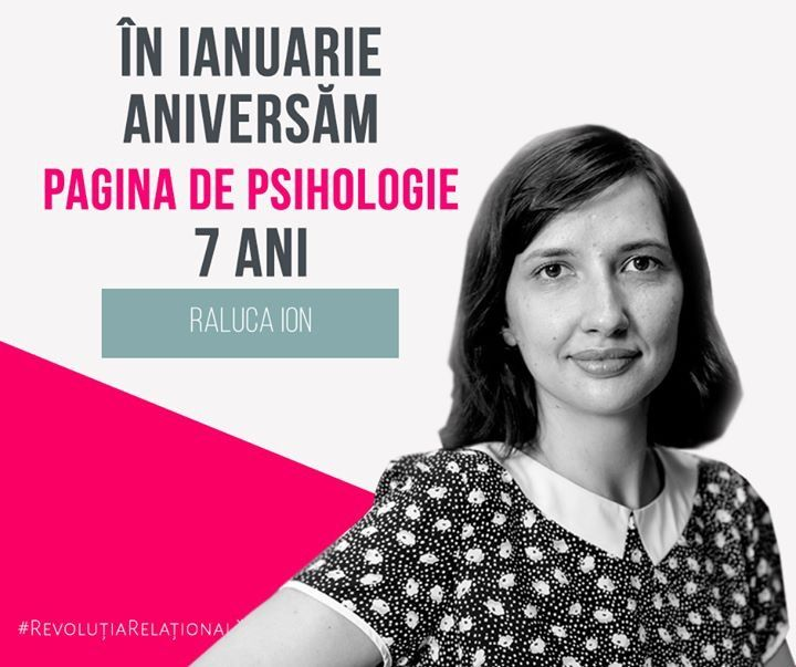 """""""La mulți ani, Pagina de Psihologie! Și la multe articole care să îi ajute pe români să fie mai conectați, mai încrezători, mai responsabili, mai implicați în comunitate. Vorbim deseori despre nevoia de schimbare în societatea în care trăim, însă – ca întotdeauna – schimbarea trebuie să înceapă cu fiecare dintre noi."""" Raluca Ion, Republica #ȘapteAni"""