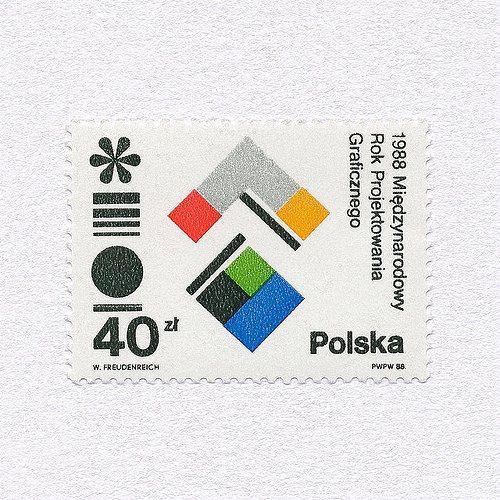 The International Year for Graphic Design (40zł). Poland, 1988. Design: Wojciech Freudenreich. #mnh #graphilately