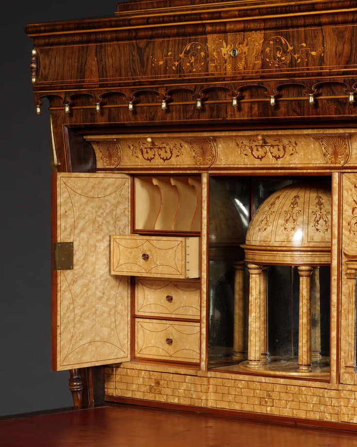 A Magnificent Secretaire Of Lyra Form In The Exotisme Taste | From A Unique  Collection Of