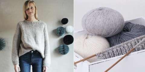 TRENDY STRIKKEGENSER: Finn frem strikkepinner og garn, og du kan strikke deg en kul genser som er perfekt til kjølige vårdager.
