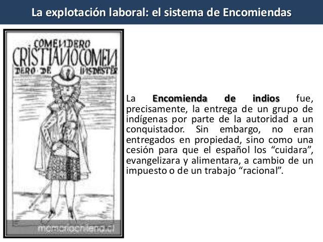 define encomienda system