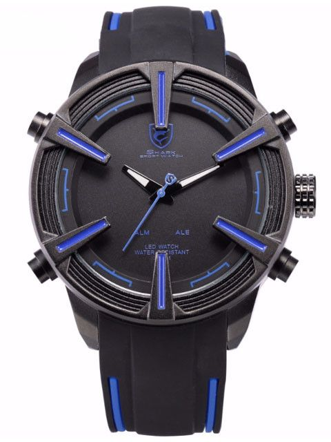 Dogfish Shark Sport Watch with Blue Accent