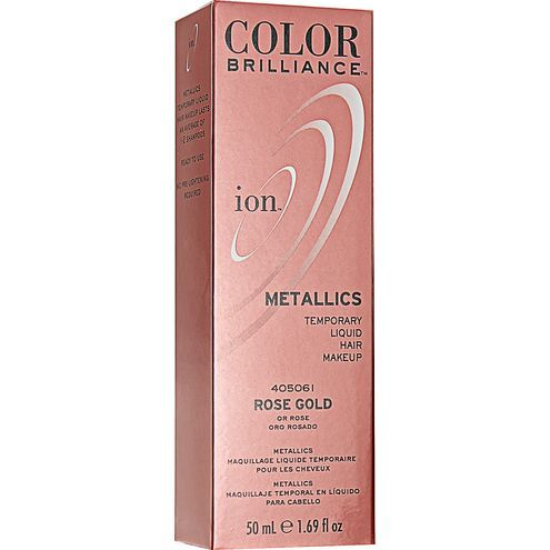 ion Color Brilliance Metallics Temporary Liquid Hair Makeup Rose Gold