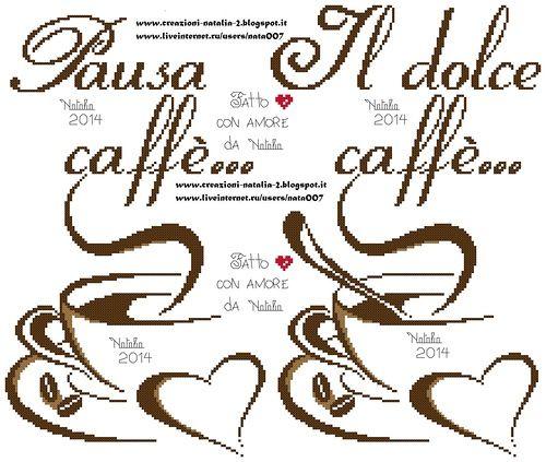 schemi punto croce chicchi di caffè - Cerca con Google