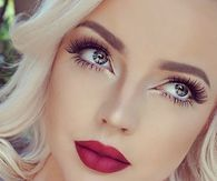 Fresh makeup look with red lip