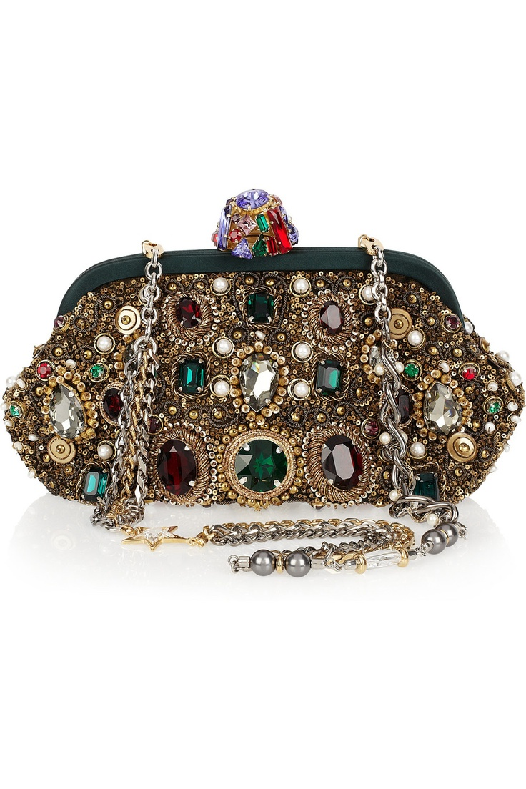 Dolce & Gabbana Jewel & Pearl-embellished ClutchDolce Gabbana, Fashion, Gabbana Jewels, Style, Handbags, Pearls Embellishments Clutches, Accessories, Gabbana Clutches, Purses