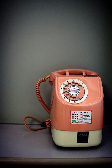 """Japanese public phone.  La prima volta che ne ho visto uno è stato nel cartone """"Kiss me Licia"""".  Moltissimi anime sono i primi testimoni attraverso i quali si impara qualcosa delle tradizioni, delle abitudini e della vita quotidiana giapponese."""