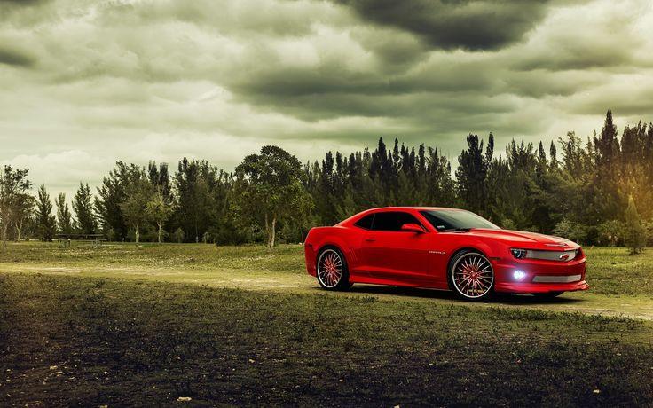 Chevrolet Camaro red muscle car wallpaper - http://www.gbwallpapers.com/chevrolet-camaro-red-muscle-car-wallpaper/ ( / Cars)