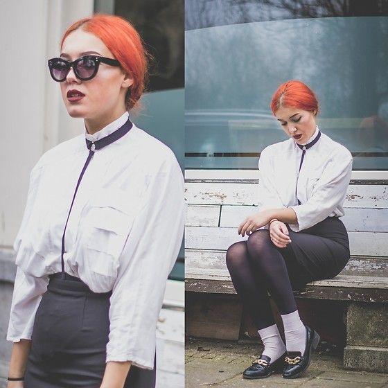 More looks by Joy B: http://lb.nu/user/3159421-Joy-B  #artistic #grunge #street #monochrome #bondage #vintage #loafers #preppy #alternative
