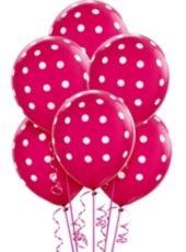 Latex Bright Pink Polka Dot Balloons - Party City