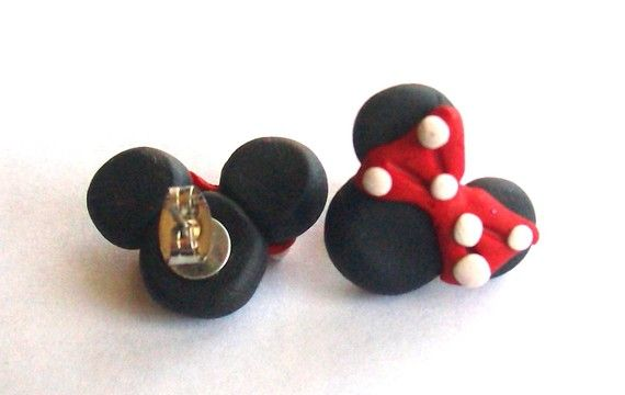 Red FIMO Minnie Mouse