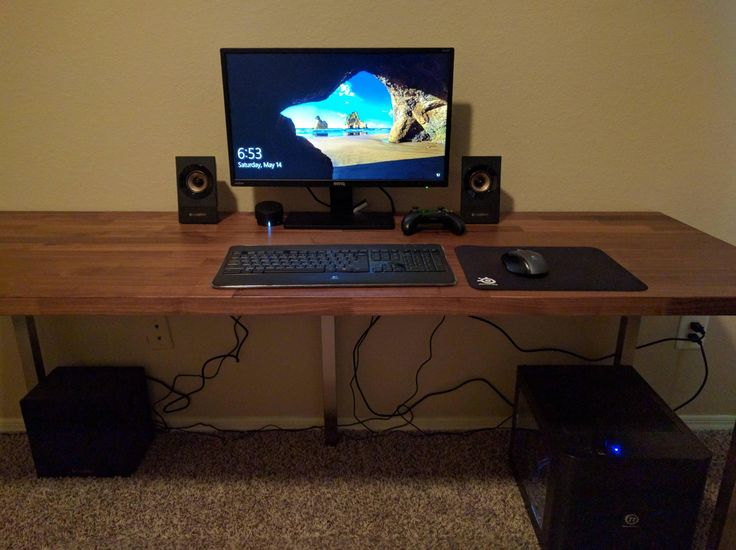 Ikea Hacks Make A Desk With Karlby Countertop And Sjunne