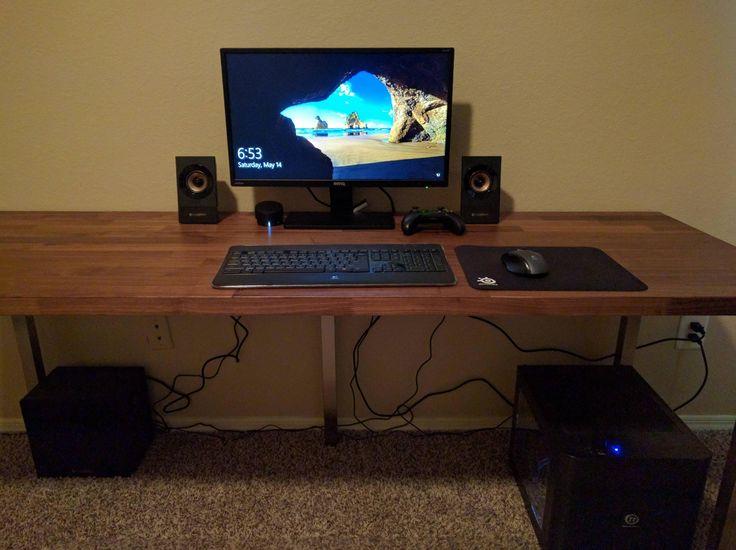 Ikea Hacks Make A Desk With Karlby Countertop And Sjunne