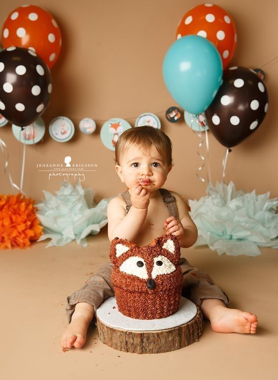 Ask him what the fox says - Birthday Cake Smash Ideas Worth Stealing for Your Little One - Photos
