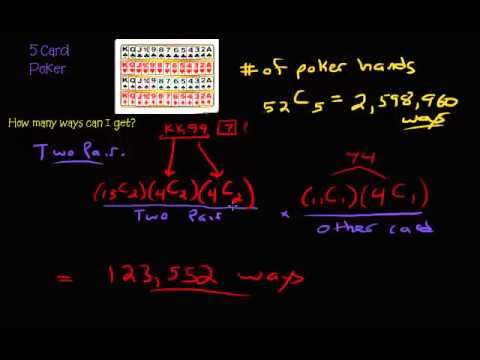 5 card poker hand combinations math formula