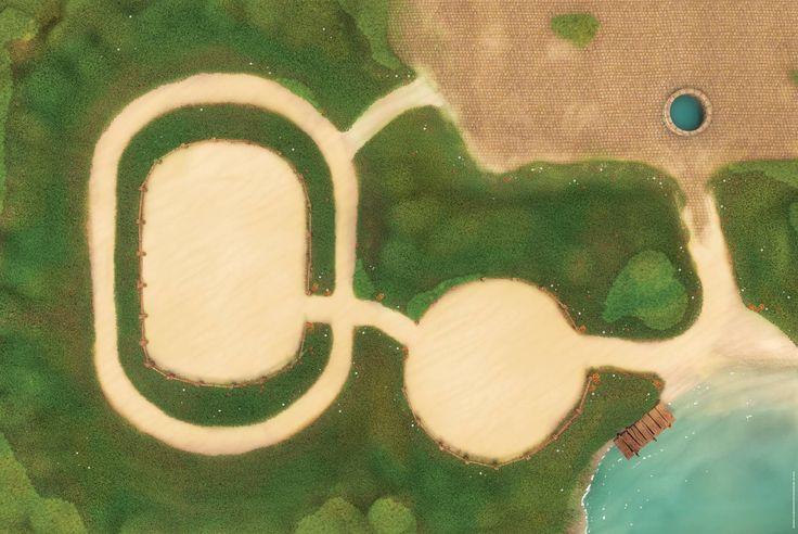 """Centre équestre - Illustration pour les tapis """"Carpeto"""" - 180x120 cm - © copyrights 2016"""
