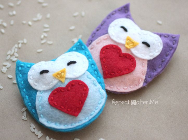 Homemade Hand Warmers Tutorial...The cutest Owls ever! This would make a great last minute holiday gift