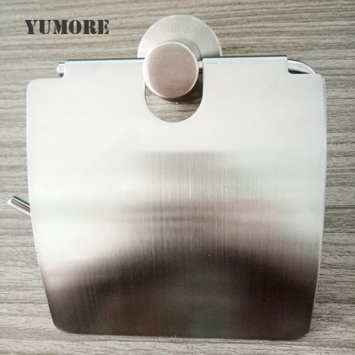 Contemporary Wall Mounted Toilet Paper Holder With Cover
