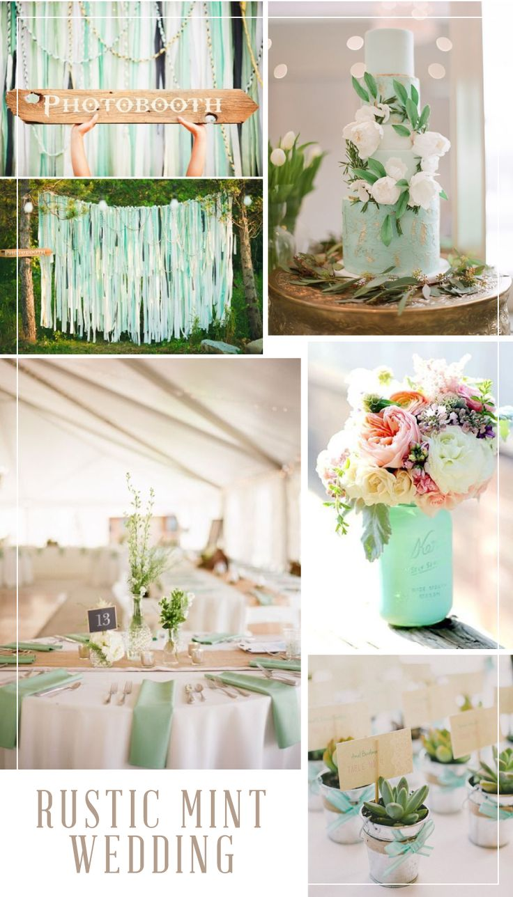 Lovely Rustic Weddings Continue To Be Popular. Mint Also Continues To Be Popular  With Weddings.