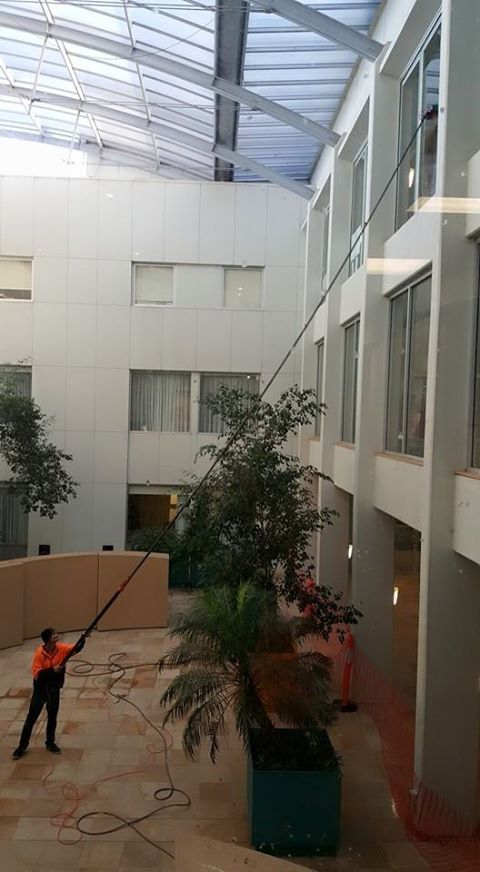 Keeping Flinders Private Hopital Spotless from the inside out.