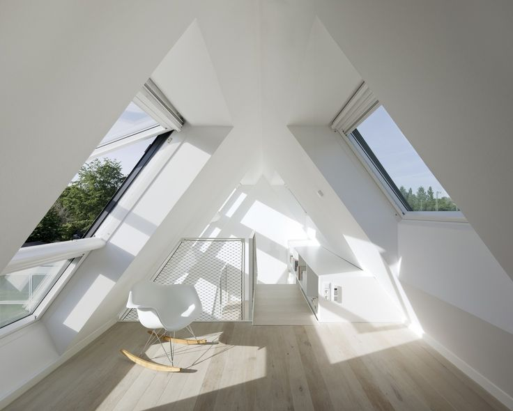 An unused attic transformed into a nice living space...