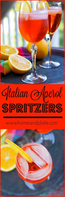 Italian Aperol Spritzers | www.homeandplate.com | Imagine a bubbly concoction of…