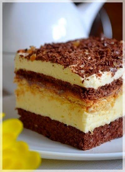 Ciasto idealne -3 Bit lub Migdałowiec na biszkopcie