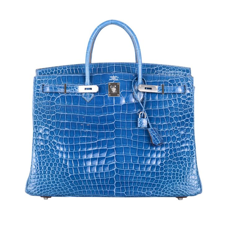 HERMES BIRKIN BAG 40cm CROCODILE MYKONOS BLUE POROSUS   From a collection of rare vintage handbags and purses at http://www.1stdibs.com/fashion/accessories/handbags-purses/