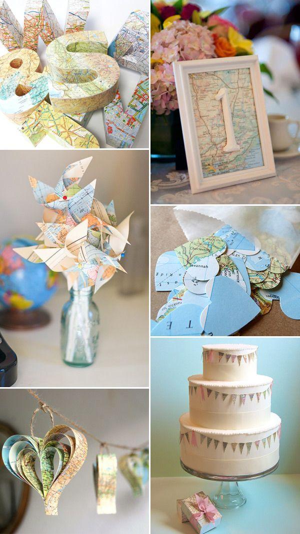 Ideas de boda con mapas
