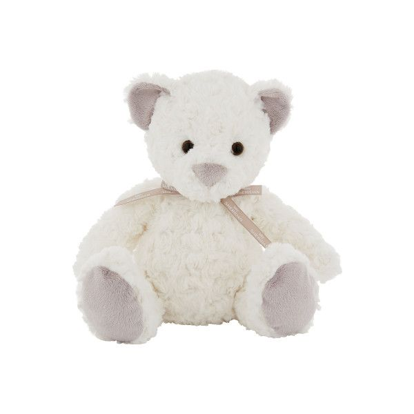 Handsome and beautifully soft, Sebastian bear is longing to be taken home and loved. In a neutral white with subtle grey features on ears and paws, he is a gorgeous new addition to the Sheridan Baby family.