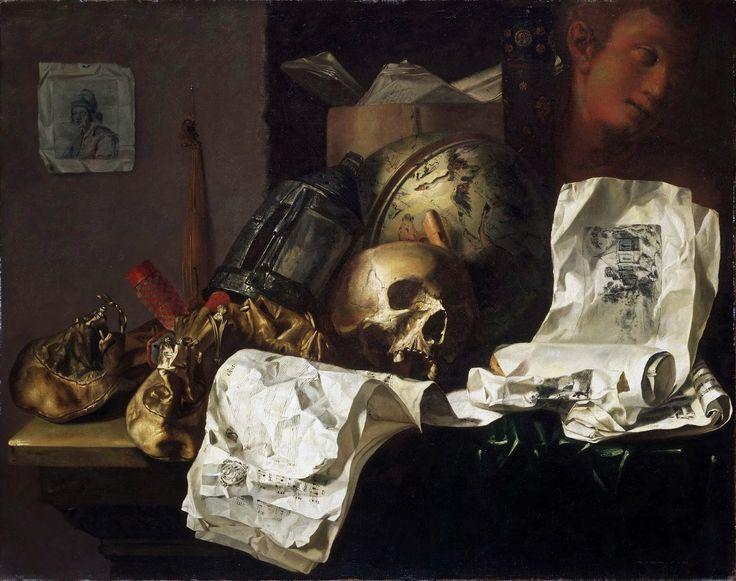 N. L. Peschier - Vanitas [1661]  #17th #Classic N. L. #Peschier #Painting