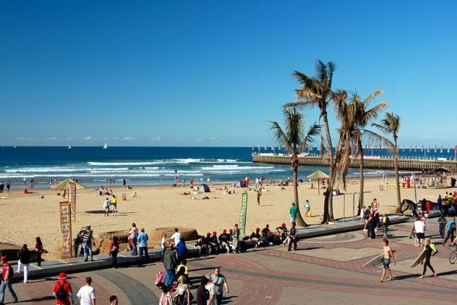 Durban in South Africa is famous for its wonderful year round climate and fantastic tourist beaches. Durban's Golden Mile is full of beautiful surf spots that are visited yearly by many tourists.
