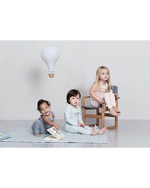 Camcam Copenhagen Lampada Mongolfiera, Grigio con cavetto Menta – Arriva in una bellissima confezione regalo! Lampade Da Notte