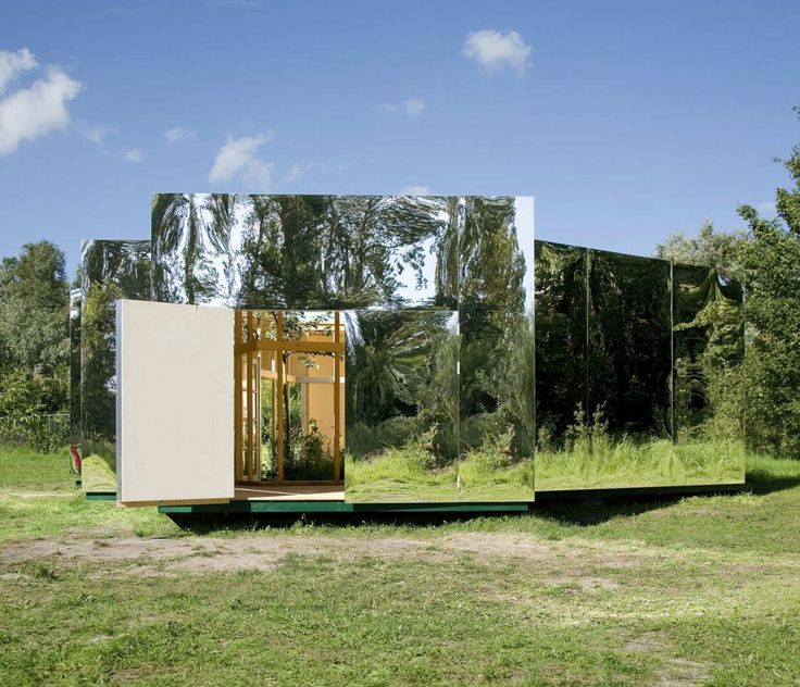 Pavilion for an Artist in Amsterdam, by DHL Architecture. The brief for the Atelier Malkovich ideas competition asked for the design of an innovative and functional studio for the contemporary artist. Eight winning designs were built as small pavilions to the scale of 1:2 – neither building nor model, half symbol and half piece of art.