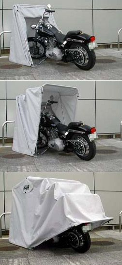 Girl Motorcycle -                                                              Bike Barn Motorcycle Cover. Expensive but would be absolutely wonderful considering I have no garage.