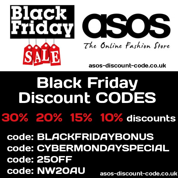 Hooray! Many ASOS discount codes right now available. http://asos-discount-code.co.uk/the-list-of-all-available-promo-codes-for-asos-com-black-friday-madness/