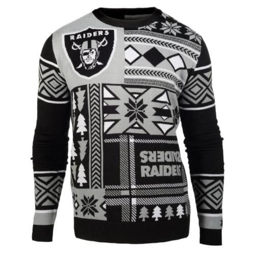 Oakland Raiders Patches Style Ugly Sweater