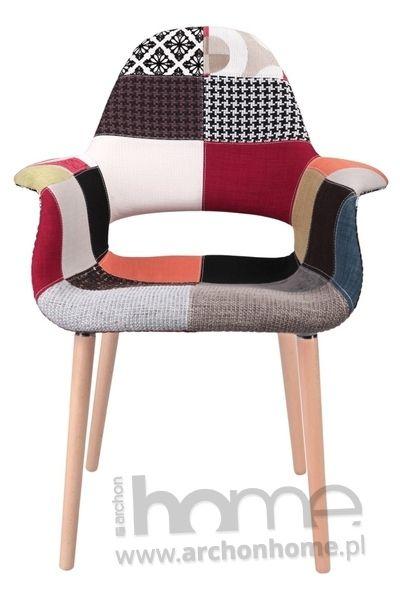Krzesło A-shape patchwork - inspirowane Organic Chair patchwork