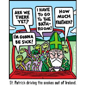St. Patrick and the snakes
