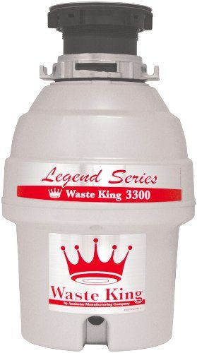 Waste King L-3300 Legend Series 3/4 HP Continuous Feed Operation Waste Disposer