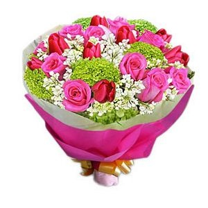 Send this delectable bouquet of 10 hot pink roses for only $83. For more please visit http://www.flowersnext.com/florist/category/sympathy.asp