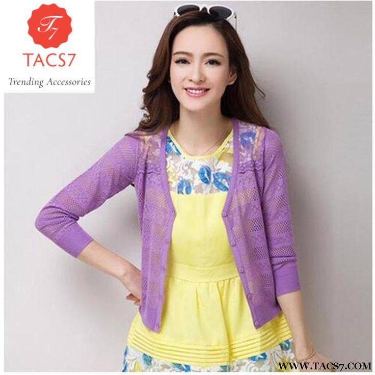 Ultra-thin 2017 summer sunscreen shirt women cardigan sweater cape shrug cutout lace cardigans all-match outerwear 8 colors