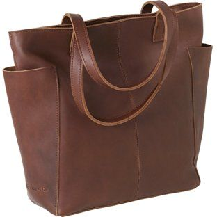 this leather bag from Duluth Trading Company.  It's big and sturdy and really pretty leather.  I get more compliments on this bag than perhaps anything else I've ever owned...  :)